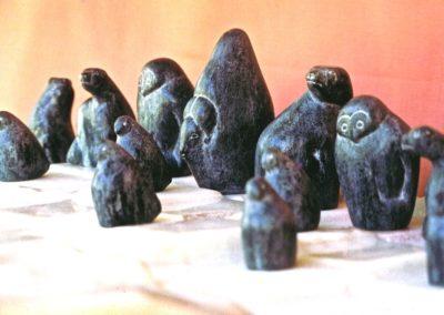 1972 Chess Set. Soapstone. Canadian Arctic Theme