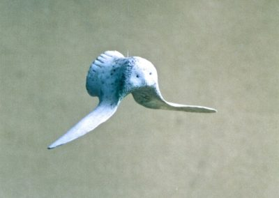 1975 Bone Bird. Cow Bone. 12cm long