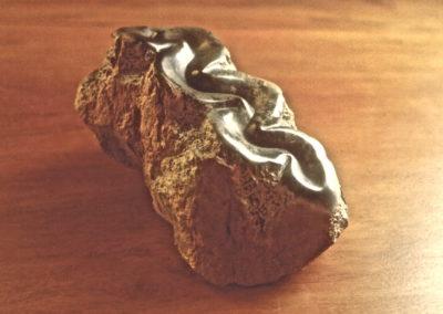 1985 Clam. Silkwood Soapstone. 18cm long