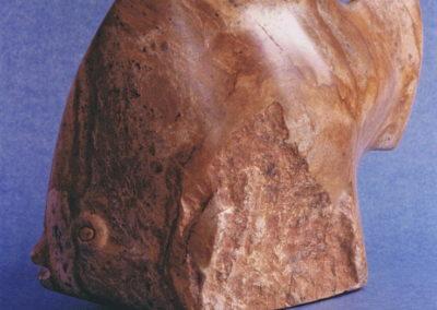 1986 Angel Fish. Silkwood Soapstone. 28cm long