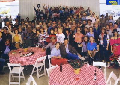 1986 Australian Exhibitors Party. Neiman Marcus for 'Australian Fortnight' in Dallas, Texas USA