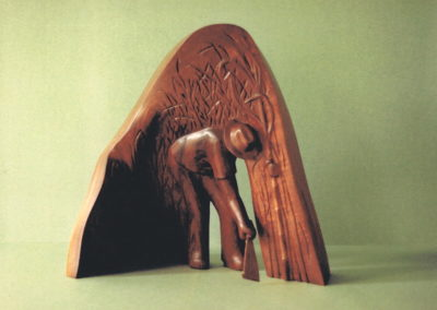 1987 Canecutter. Red Cedar. 44cm high