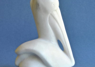 2015 Pelican. Chillagoe Marble. Commissioned. 17cm high