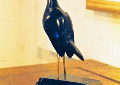 1990 Good Morning Sunshine. Chillagoe Marble, carved Bronze. 30cm high