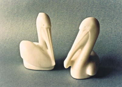 1991 Pelicans. Chillagoe Marble. 14cm high