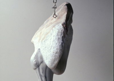 1997 Fishing Lake Proserpine. Chillagoe Marble, Stainless Steel pulley and Nylon rope. 60cm long