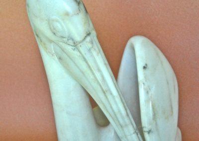 1991 Den's Pelican. Chillagoe Marble. 31cm high