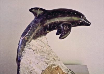 1992 Dolphin. Chillagoe Marble. 32cm high