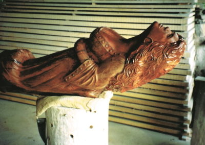 1992 Figurehead. Red Cedar. Commissioned for a house. 122cm long