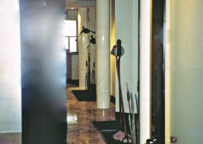 1992 Bulrush Visitors. Front door entry of Jabiru installation