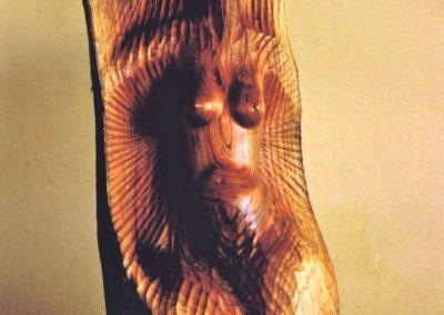 1993 Red Cedar Figure. Red Cedar. Commissioned. 34cm high