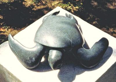 1995 Green Turtle. Kilkivan Basalt. 50cm wide