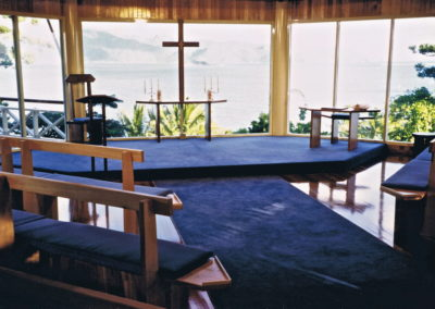 Hayman Island Chapel Furniture. Commissioned