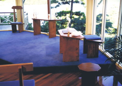 Hayman Island Chapel Furniture. Red Bean. Commissioned
