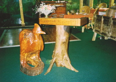 Hayman Island Reception with Cassowary. Mackay Cedar and Bloodwood Stump. Commissioned