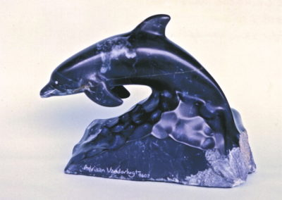 1996 Dolphin. Chillagoe Marble. 26cm long