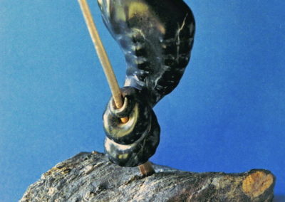 1996  Seahorse. Chillagoe Marble, carved Bronze. For 'Pun Intended' Exhibition. 20cm high