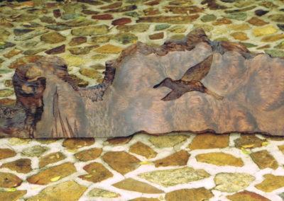1999 Wall Panel. Tea-Tree Slab. Commissioned. 190cm long