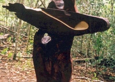 2007 Anneke Silver, Earth Goddess. Mackay Cedar, White Beech, Leichhardt. 180cm high