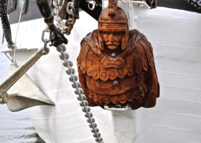 2009 Centurion Figurehead. Leichhardt. Commissioned for 1955 Pearl Lugger called 'Centurian'. 68cm high