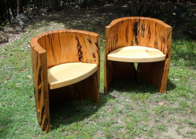 White Beech and Hoop Pine Tub Chairs