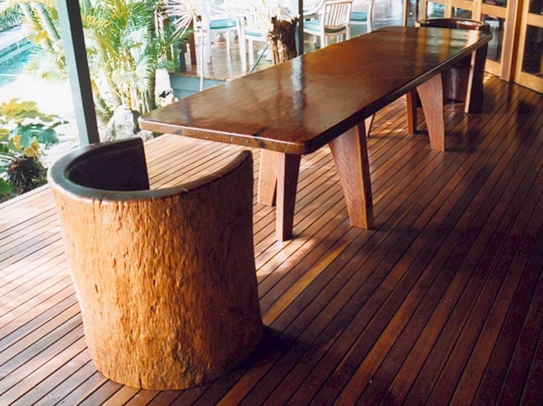 Blue Gum Table with Tub Chairs - Vanderlugt & Vanderlugt