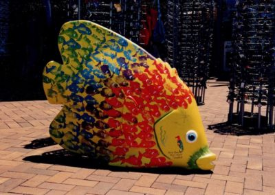 2005 Painted Fish. Fibreglass, Painted by Reef Festival Participants