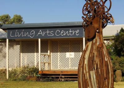 2013 Bottle Tree. Recycled Farm Steel. Commissioned for Liiving Arts Centre, Blackall Qld. 3.5m high
