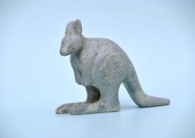 1969 Kangaroo. Soapstone. 13cm high