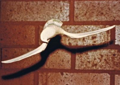 1975 Bone Bird. Cow Bone. 18cm long
