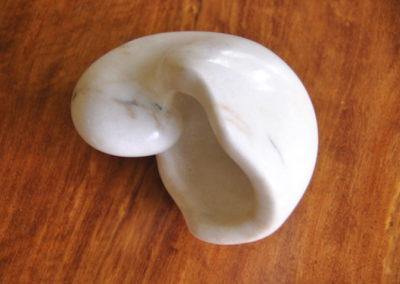 1990 Nautilus. Chillagoe Marble. 13cm long