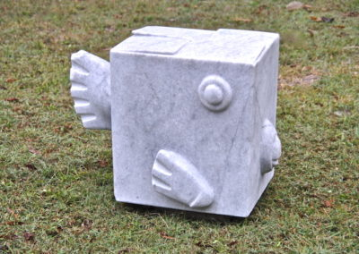 2011 Box Fish. Chillagoe Marble. Exhibited at 'Strand Ephemera' 2011 Townsville Qld. 45cm high