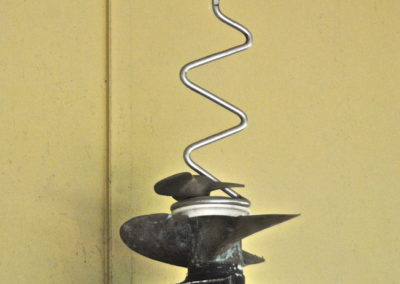 2011 Propellors. Bronze, Stainless Steel, Plastic. 54cm high
