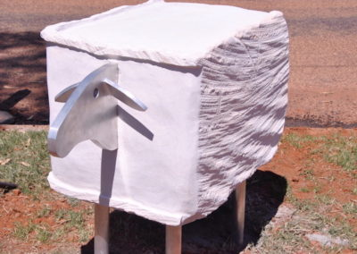 Quilpie 'Woolbale Sheep'. Detail