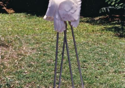 1990 Waltz on the Wildside. Chillagoe Marble and Stainless Steel. 160cm high