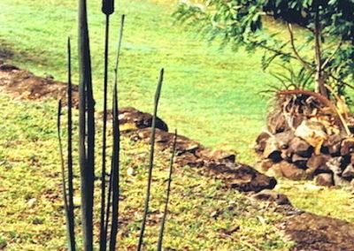 1992 Unique Bronze Bulrush. 130cm high