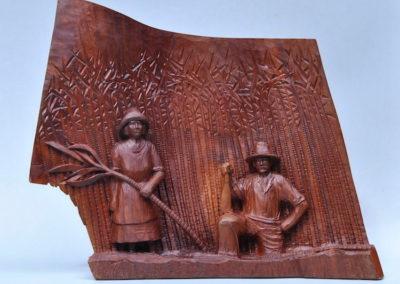 1993 Cane Cutters. Red Cedar. 36cm high