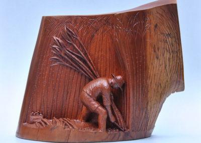 1993 Cane Cutters. Red Cedar, back viewH.b CaneCutters 1993