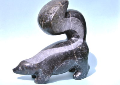 2006 Skunk. Ten Mile Limestone. Canadian Element for 'Nature Transmogrified' Exhibition. 34cm high