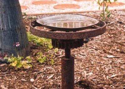 2006 Bird Bath. Recycled Steel. 50cm high