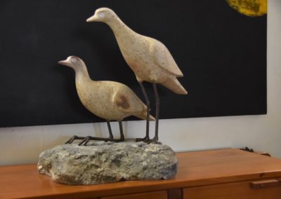 2017 Two Bush Stone Curlews. Kelsey Creek Dacite. 53cm high